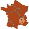 La Vallée du Rhône en France.